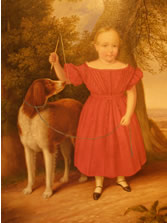 Painting of Child & Dog