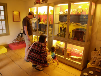 Visitors view toy exhibit