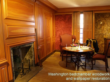 Restored Woodwork in Washington Bedchamber