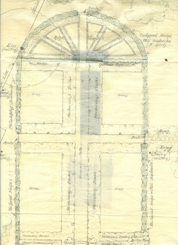 Amy Cogswell's Original Garden Plan