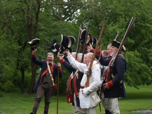 Rallying the troops at the annual Revolutionary War Encampment at WDS