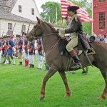 5th CT Regt. & Charging Horseman to Defend Wethersfield from Redcoats  During Revolutionary War Encampment