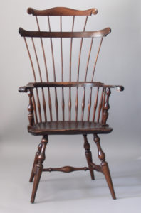 Double Comb Back Windsor Chair, c. 1920. Lent by Charles Lyle