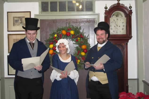 adorable carolers close upweb