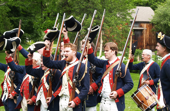 Revolutionary regiment reenactment